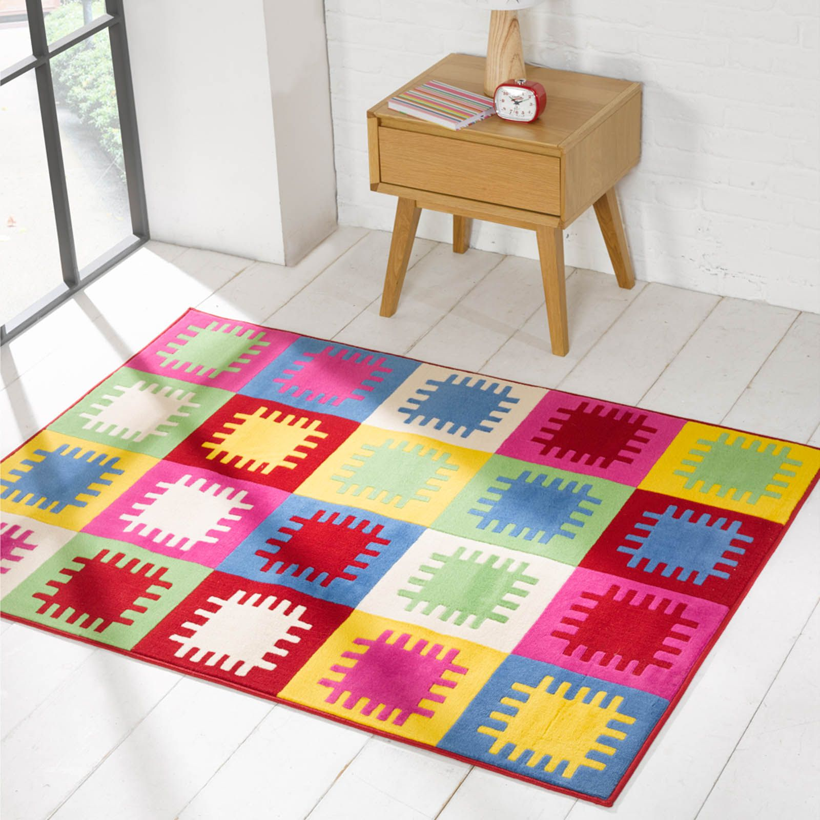 d4aa262132f The Best Prices Online and Free UK delivery at The Rug Seller. Retro Funky  Pegs Multicoloured Rugs ...