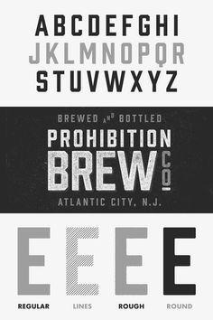 Weandthecolor Prohibition Retro Font Design Prohibition Is A Beautiful Vintage Type Family By Mattox Shuler Font Publis Retro Font Fonts Design Vintage Fonts