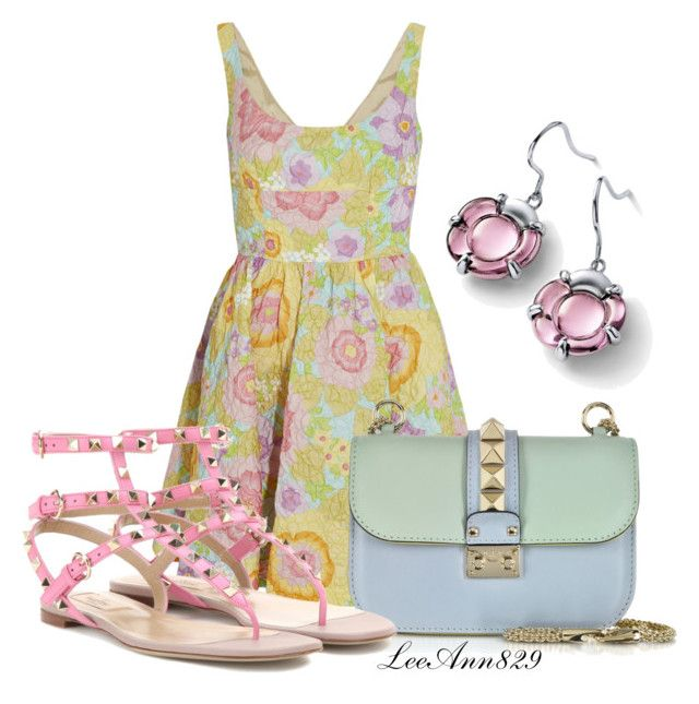 Pastel dress contest by leeann829 on Polyvore featuring RED Valentino, Valentino and Baccarat
