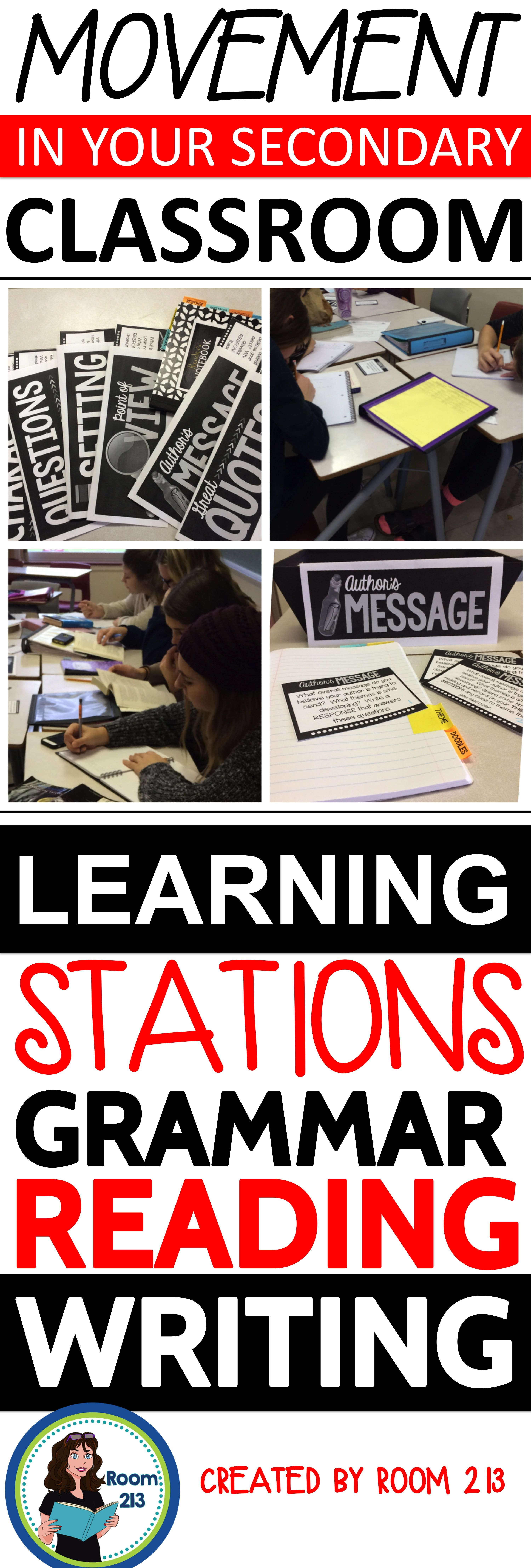 High School English Stations For Grammar Independent