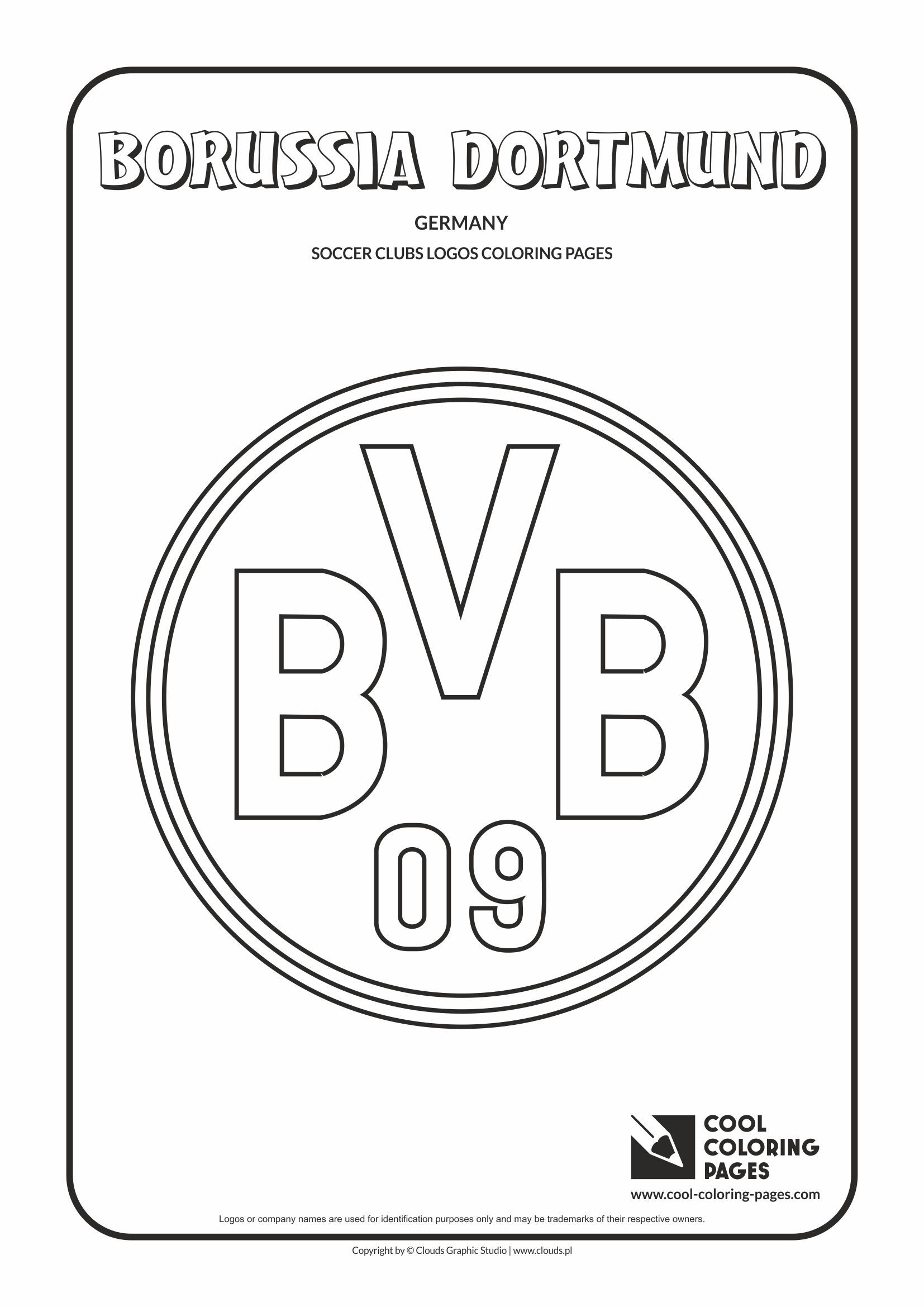 Cool Coloring Pages Soccer Clubs