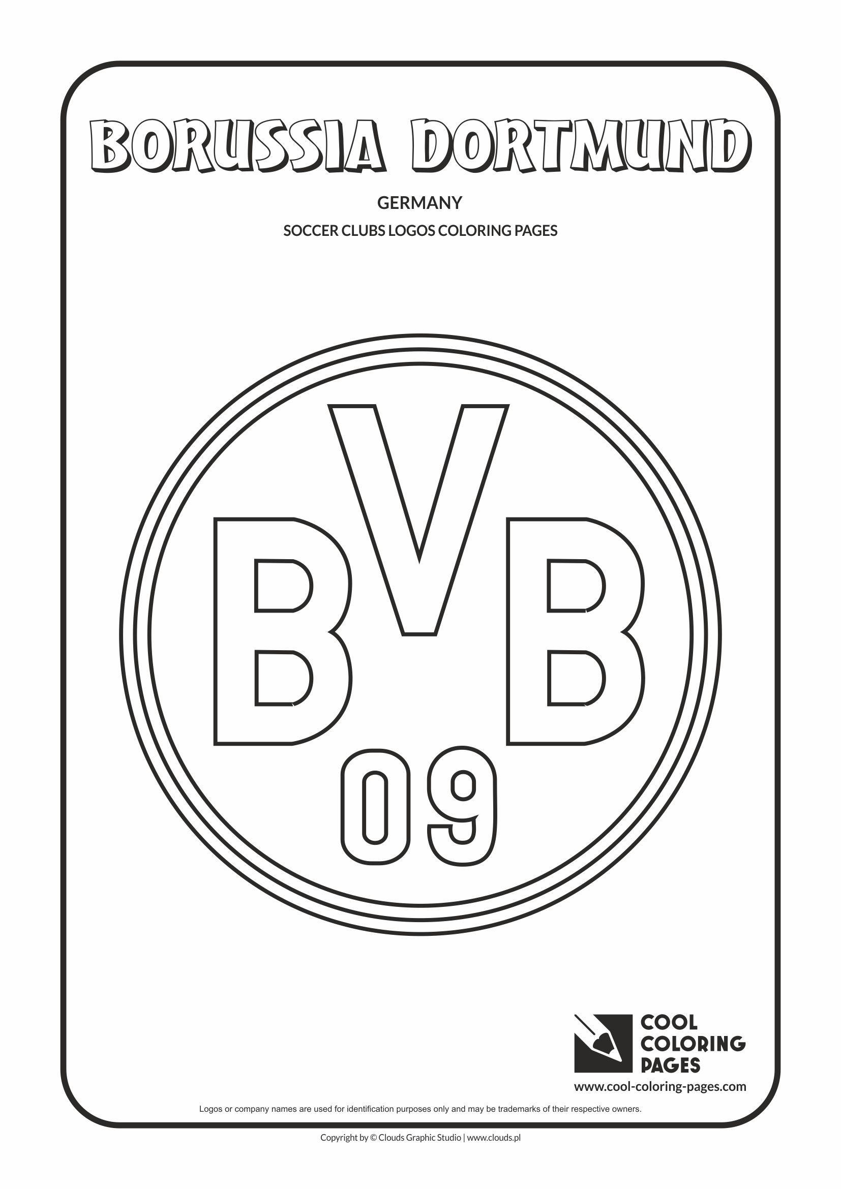 Borussia Dortmund Logo Coloring Page