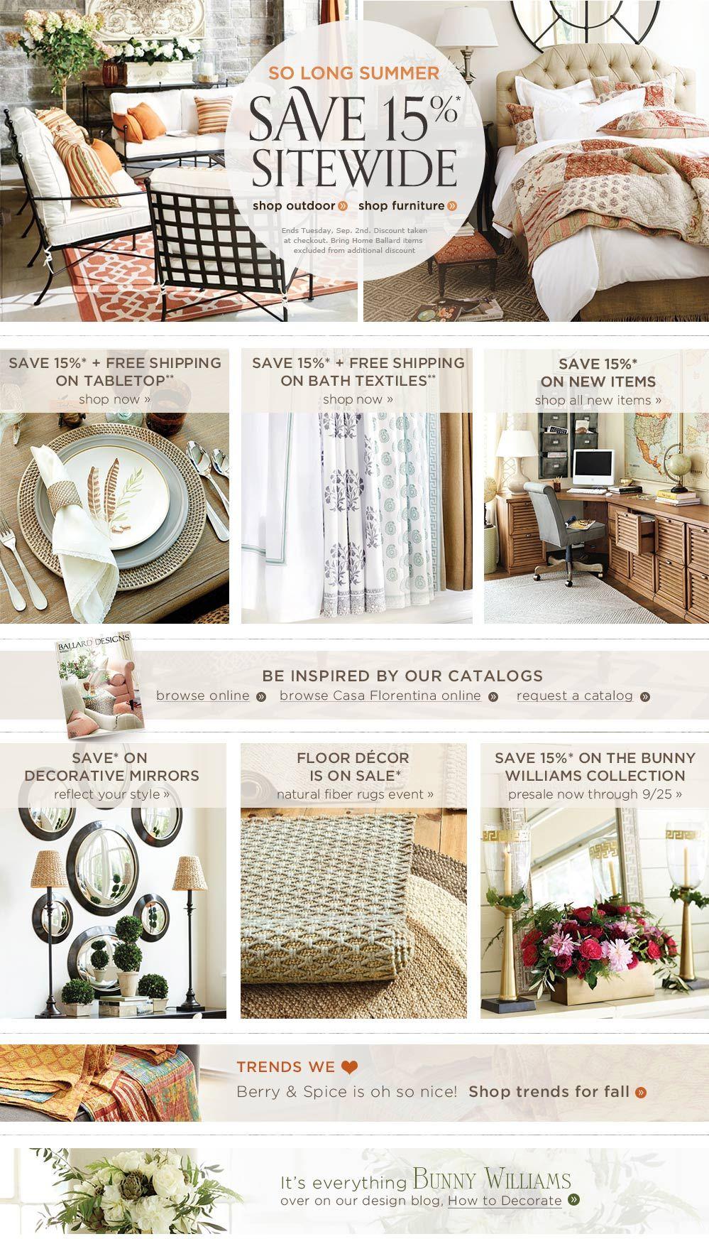 labor day sale ballard designs | deals and steals | pinterest
