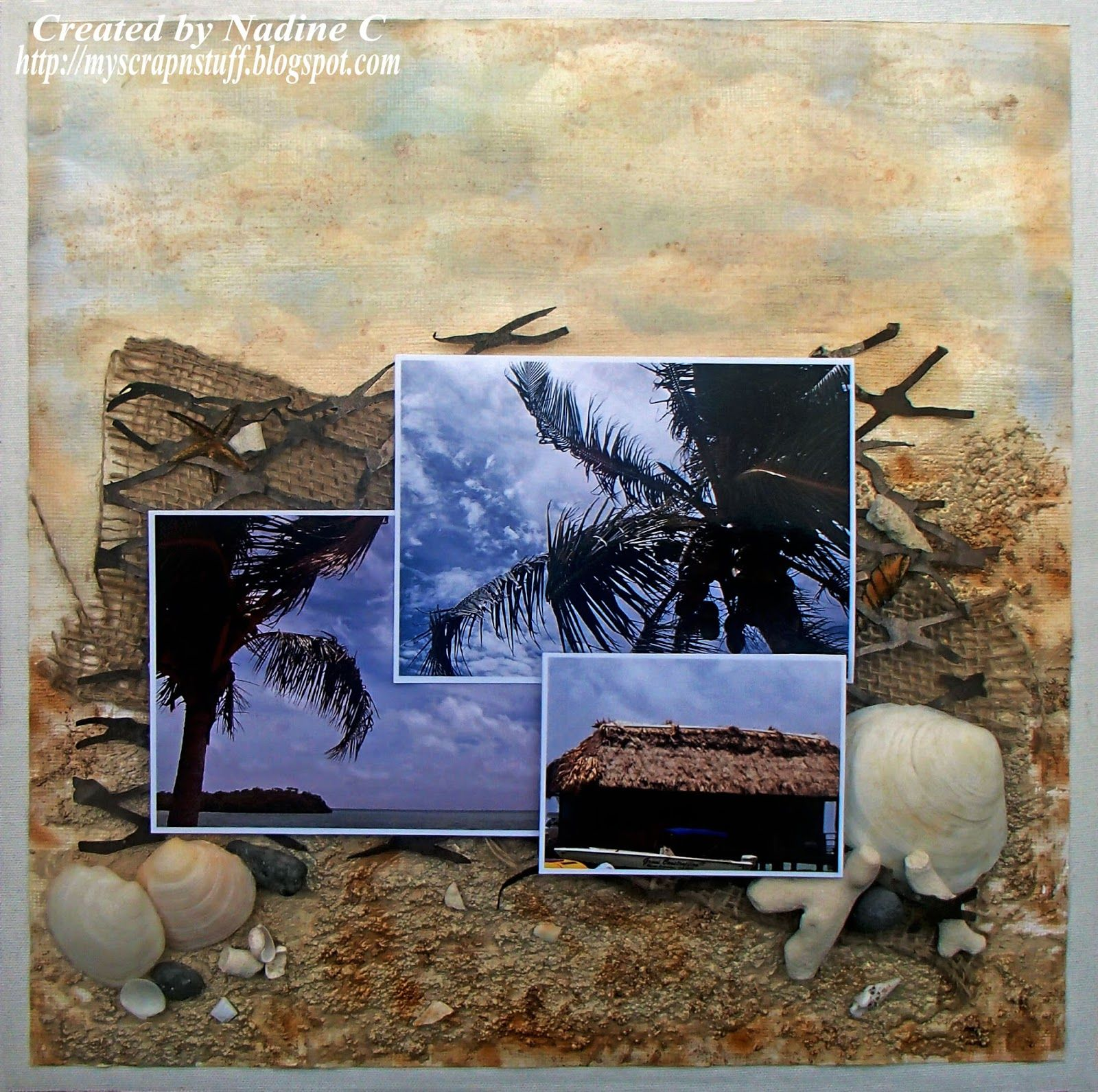 Beaches in Belize - Canvas Corp Brands @scrappinready @tatteredangels @canvascorp