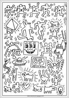 Keith Haring Arts Printable Coloring Pages Haring Art Keith Haring