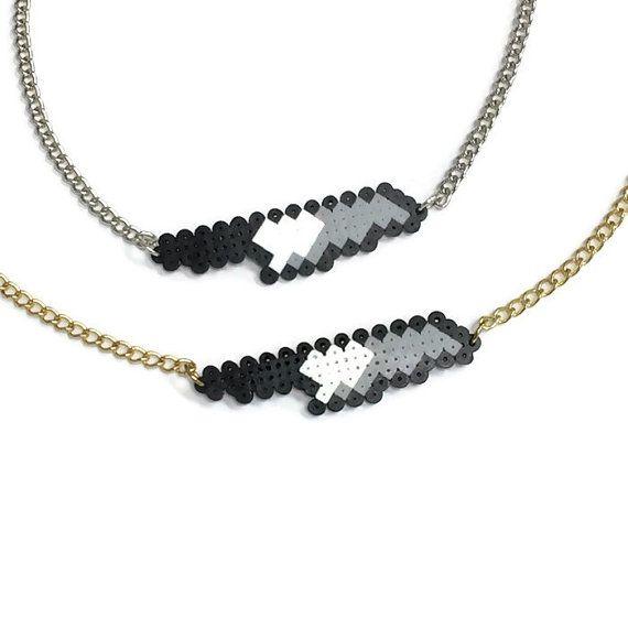 Knife Emoji Necklace Mini Perler Beads Mini Hama Beads by Kewlery