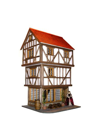 Tudor Corner Shop Dolls House Maple Street Dollhouse Furniture