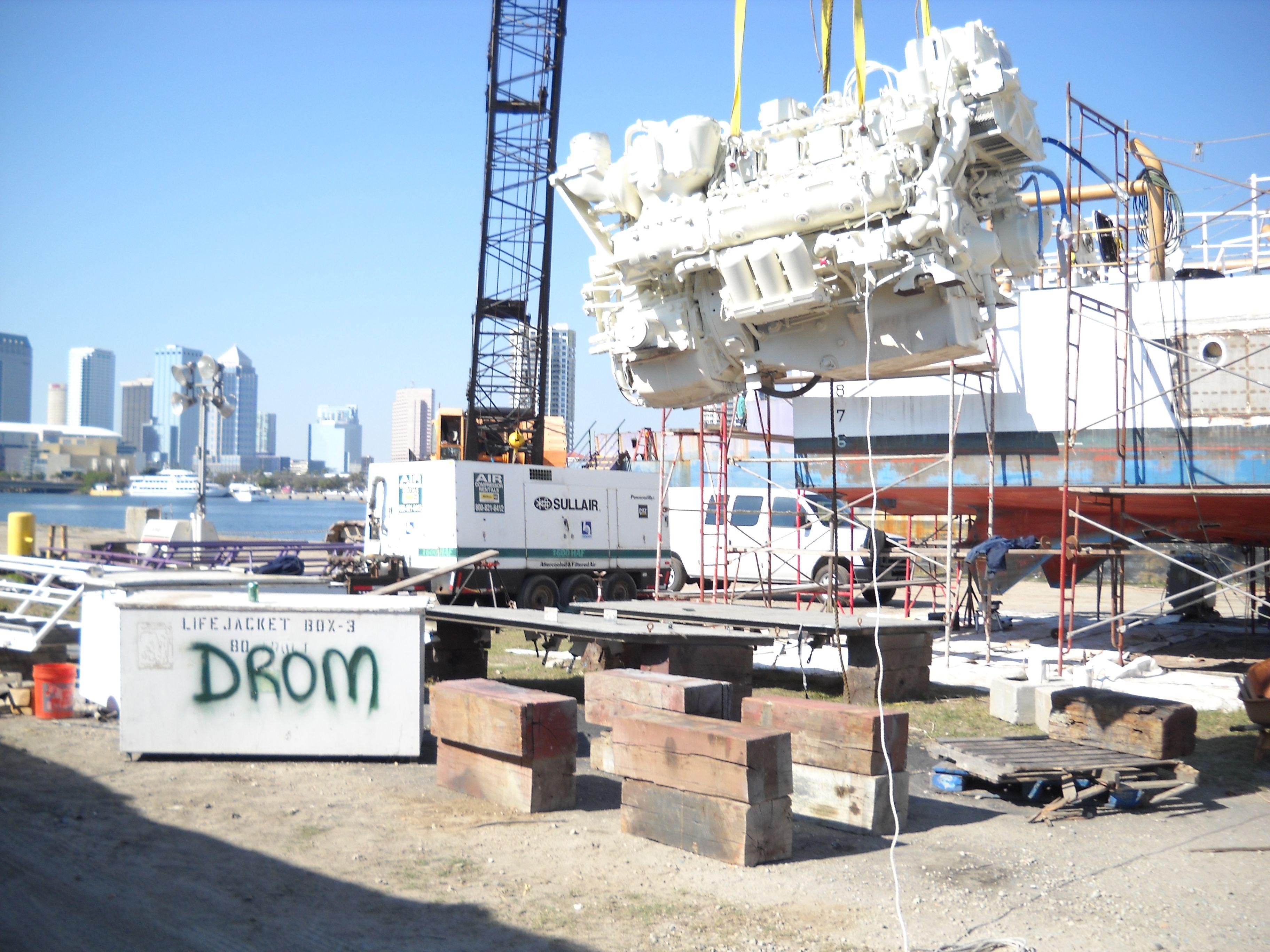 Amberjack main engine removalreplacement coast guard