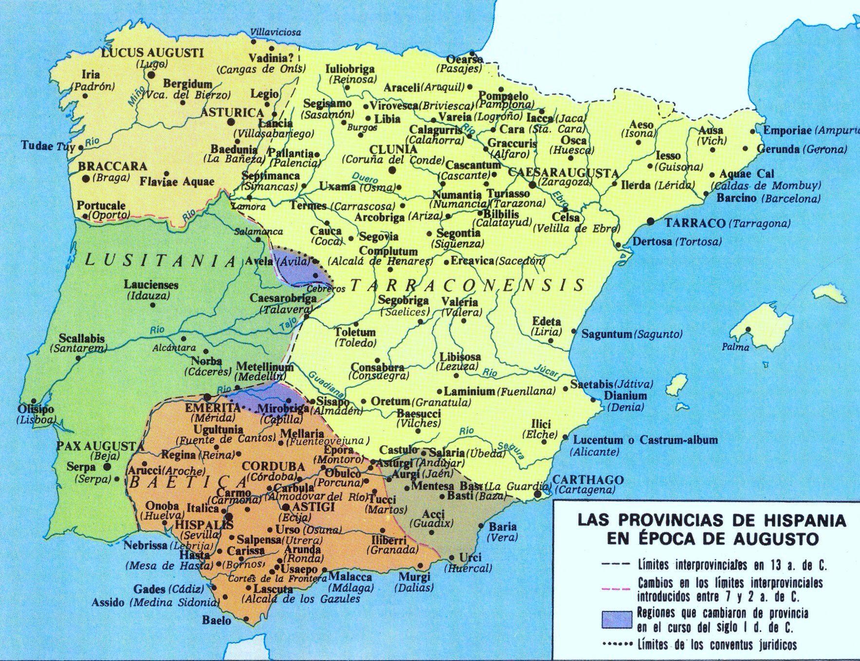 Províncias de Hispania en época de Augusto / Caius Iulius Caesar ...