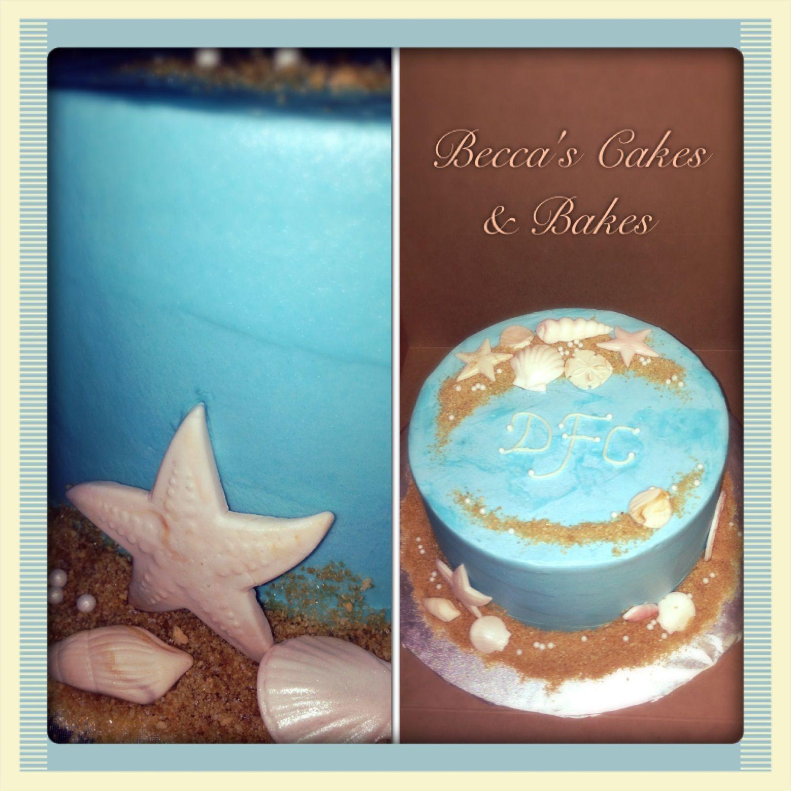 Simple Wedding Cupcake Ideas: Simple And Small Beach Wedding Cake