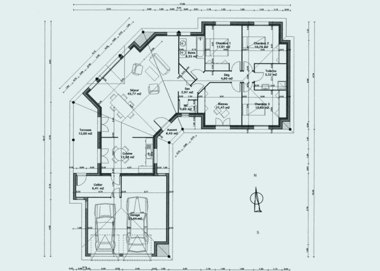 Plan De Maison En V Plain Séduisant Plan Maison En V Plain Pied - Faire Un Plan Interieur De Maison Gratuit