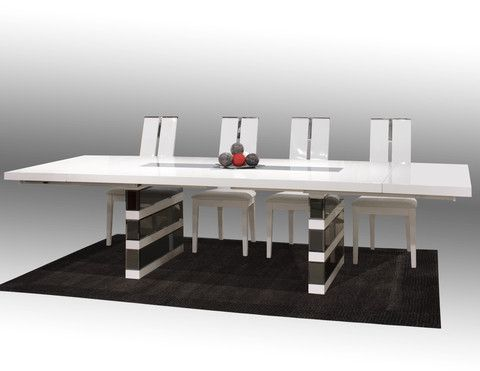 The Mera Dining Table Is A Modern Rectangular Lacquer Table