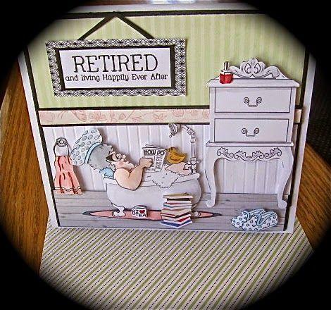 Carte-scène pour un départ à la retraite