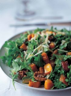 Ina Garten Butternut Squash roasted butternut squash salad with warm cider vinaigrette