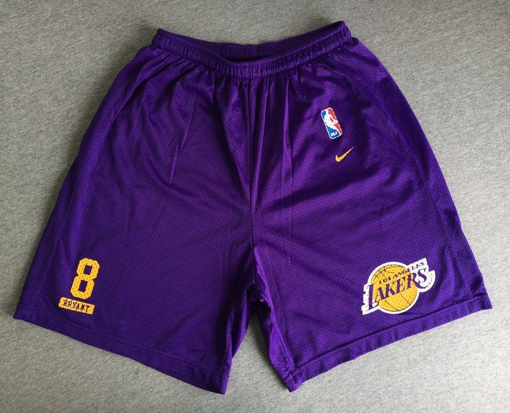 Nike Team Shorts 90s La Lakers Kobe Bryant Los Angeles Purple Mesh Usa Men L Euc Nike Sport Lakers Kobe Bryant Kobe Bryant Gym Shorts Womens