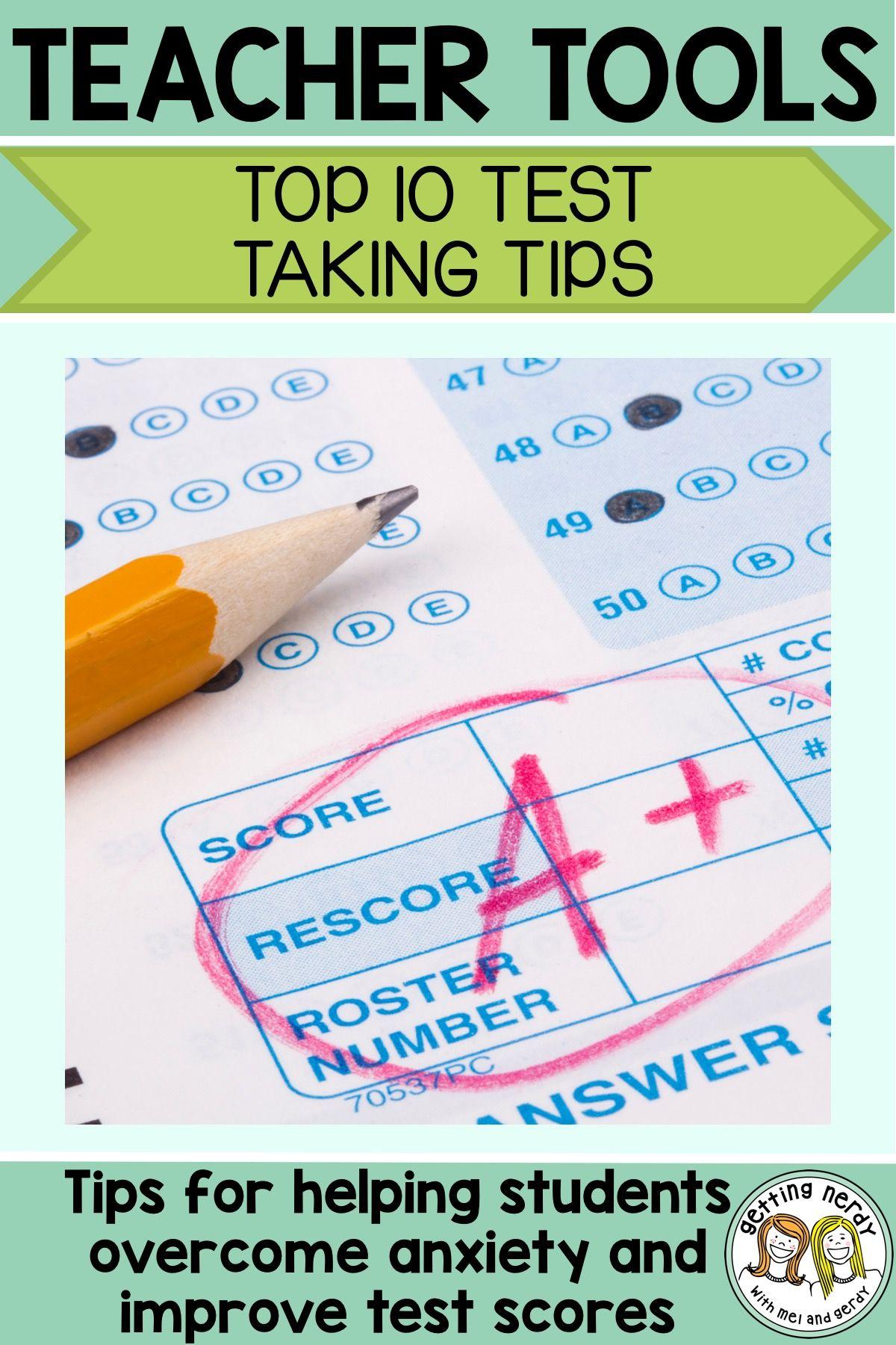 Teacher Tools Top Ten Test Taking Strategies