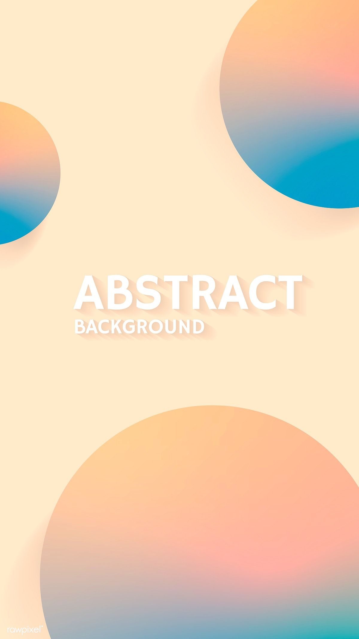 Round Cream Abstract Background Vector Free Image By Rawpixel