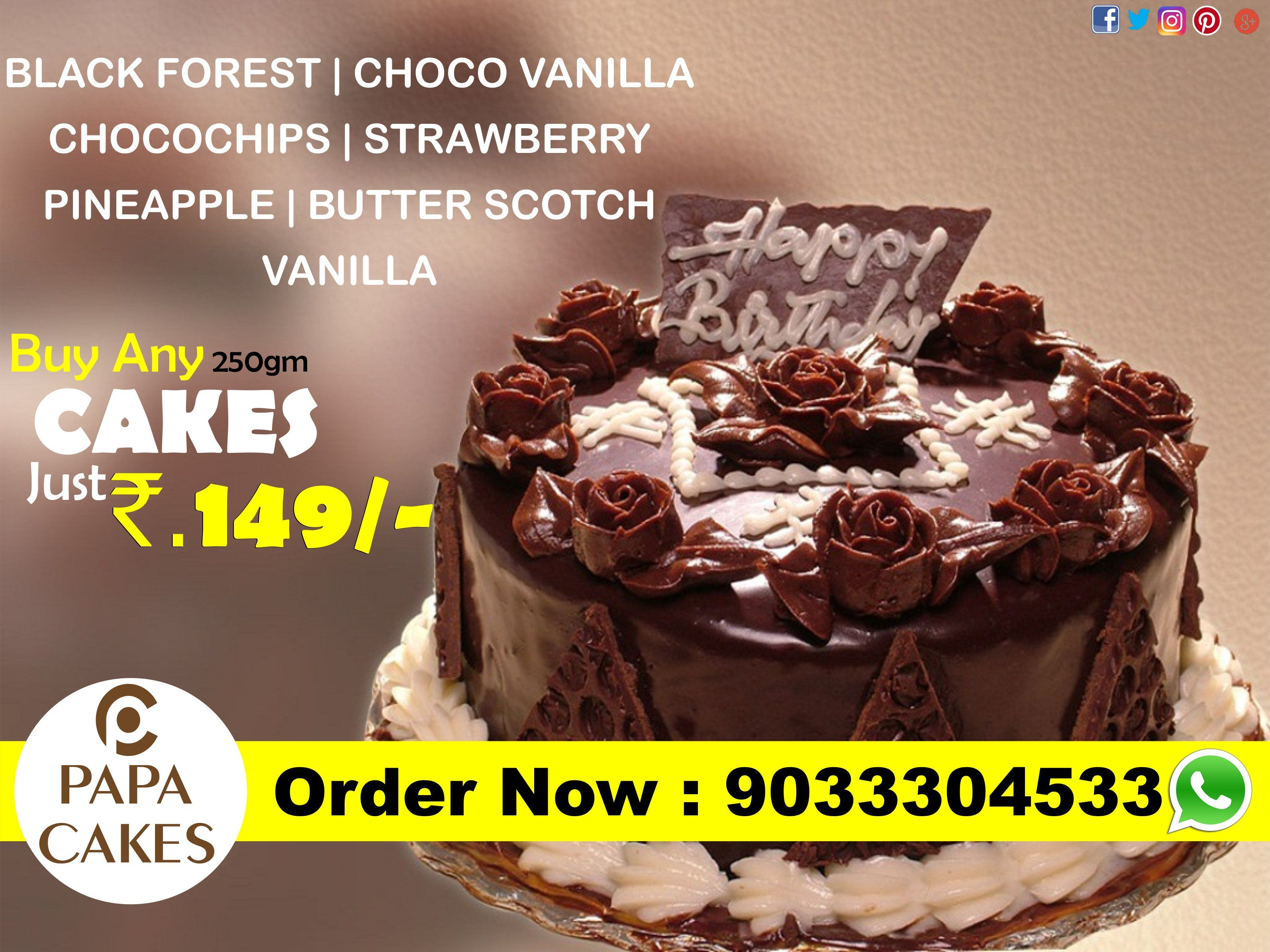 Cool 250Gm Cakes Just Rs 149 Any Flavour Papa Cakes Vadodara Personalised Birthday Cards Veneteletsinfo