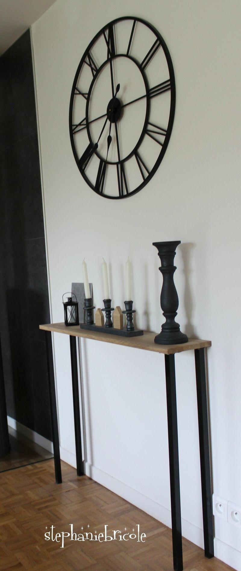 Diy Un Meuble Console En Bois Un Cours De Bricolage A Gagner Stephanie Bricole Meuble Style Industriel Diy Deco Deco Maison