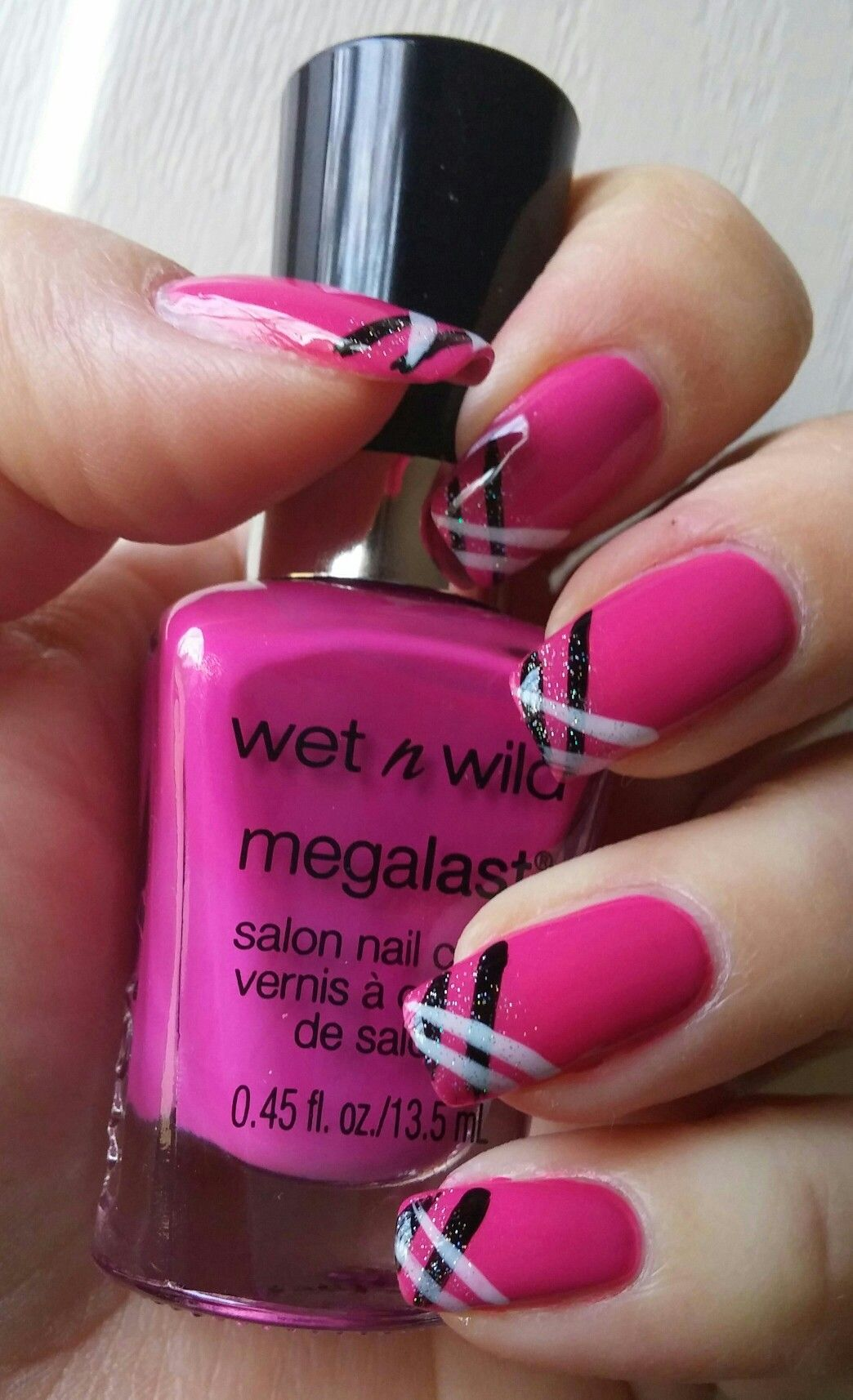 Color: Young and Cheesy. Simple, easy diagonal design. | Nails ...