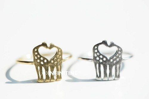 Giraffe ring,Jewelry,Ring,Metal,animal ring,wrap ring,RN2321