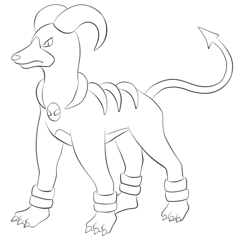 Click To See Printable Version Of Houndoom Coloring Page Pokemon Coloring Pages Pokemon Coloring Pokemon Coloring Sheets