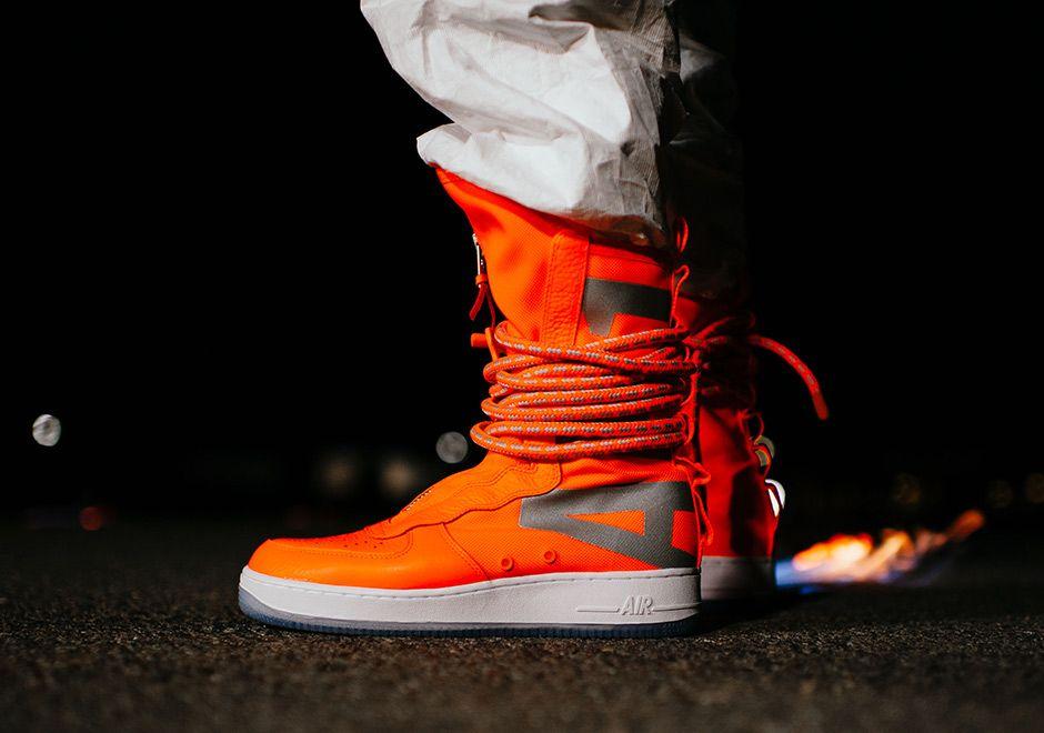 Nike SF-AF1 High Total Orange AA1128