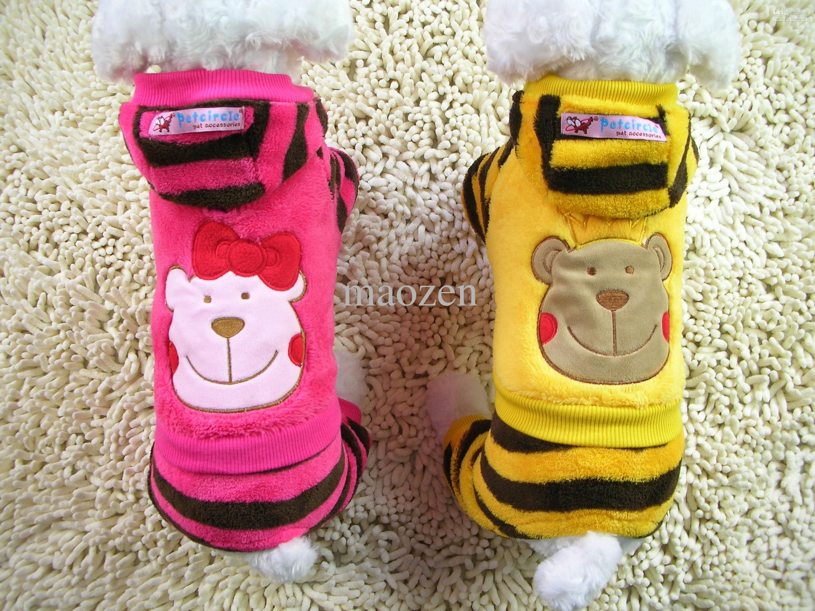 Free Shipping Pet Dog Clothes Fashion Winter Cute Dog Apperal Cheap Warm Soft Funny Dog Jumpsuit Clothing Free Shipping