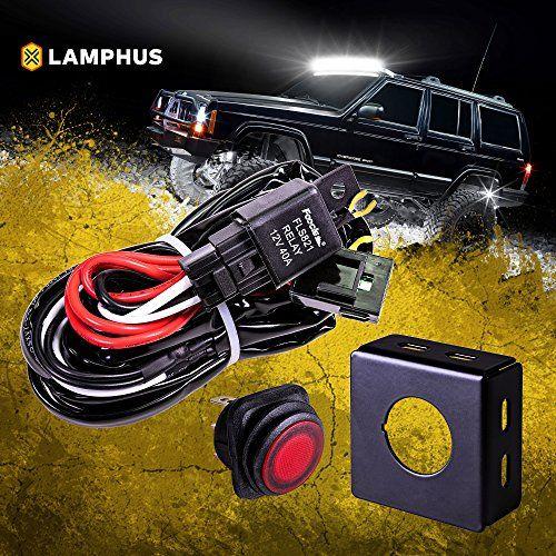 Lamphus 13 Off Road Atv Jeep Led Light Bar Wiring Harness Kit Waterproof Switch Mounting Bracket Off Road Led Lights Automotive Led Lights Led Light Bars
