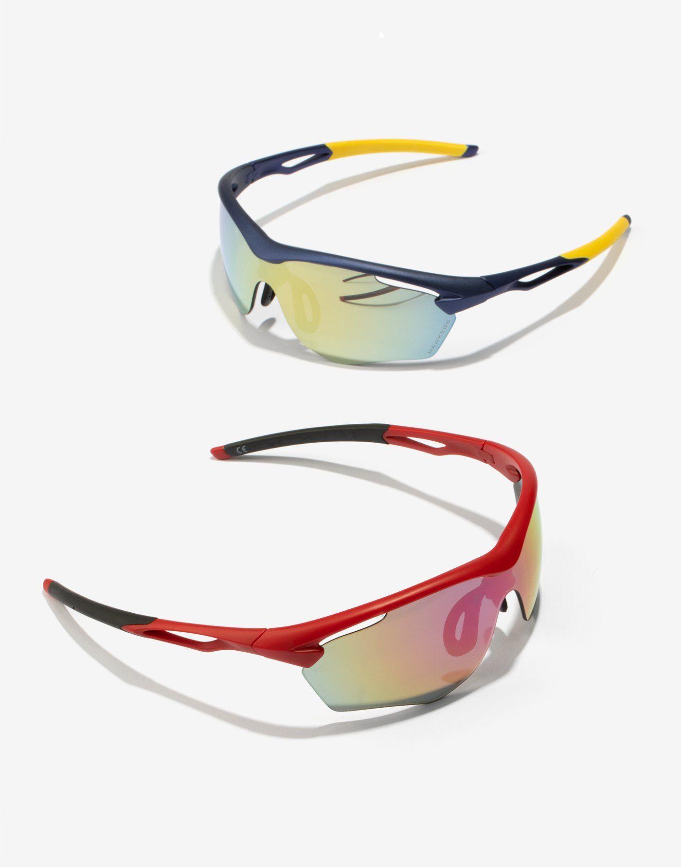ebc9d71dfb RED NEBULA TRAINING Diseño deportivo de gafas de sol con montura semi al  aire rojo mate