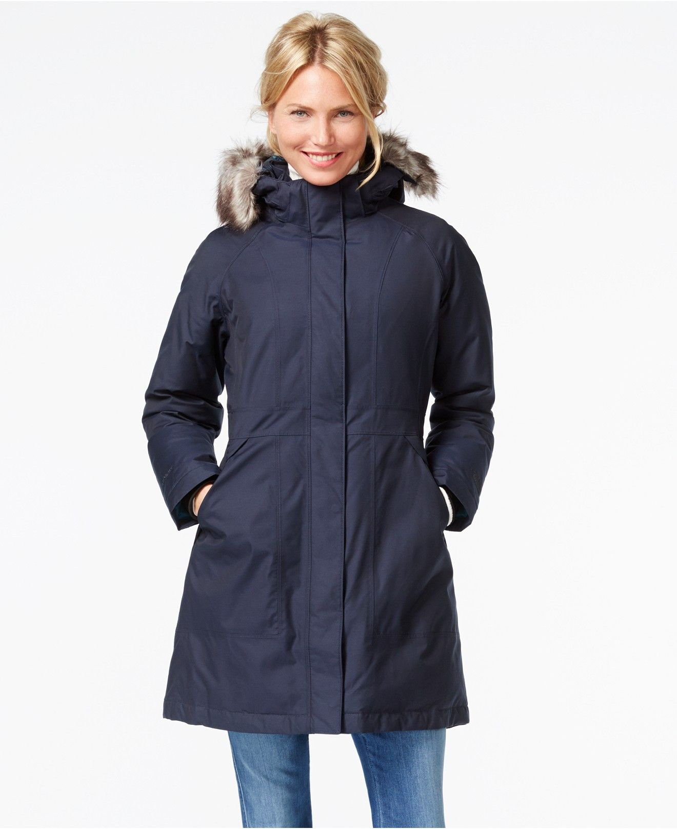 The North Face Arctic Faux Fur Trimmed Parka Jackets Blazers Women Macy S Blazer Jackets For Women North Face Arctic Parka Down Parka [ 1616 x 1320 Pixel ]