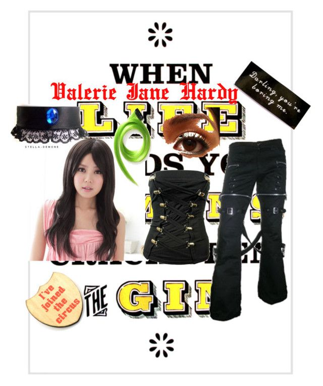 """Valerie Jane Hardy"" by bvb666him ❤ liked on Polyvore featuring Hoolala, Haberdash House, Clair Beauty, Poizen Industries, women's clothing, women's fashion, women, female, woman and misses"