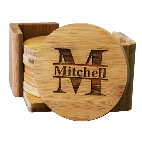 Housewarming Gift Engraved Coaster Set New Home Gift Family Coasters Gift for a Couple Personalised Wooden Coasters Real Wood Coasters