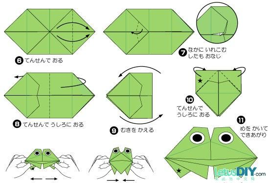 easy origami frog how to origami origami pinterest