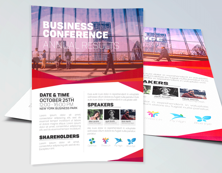Business Conference Flyer Template For Any Corporate Conference