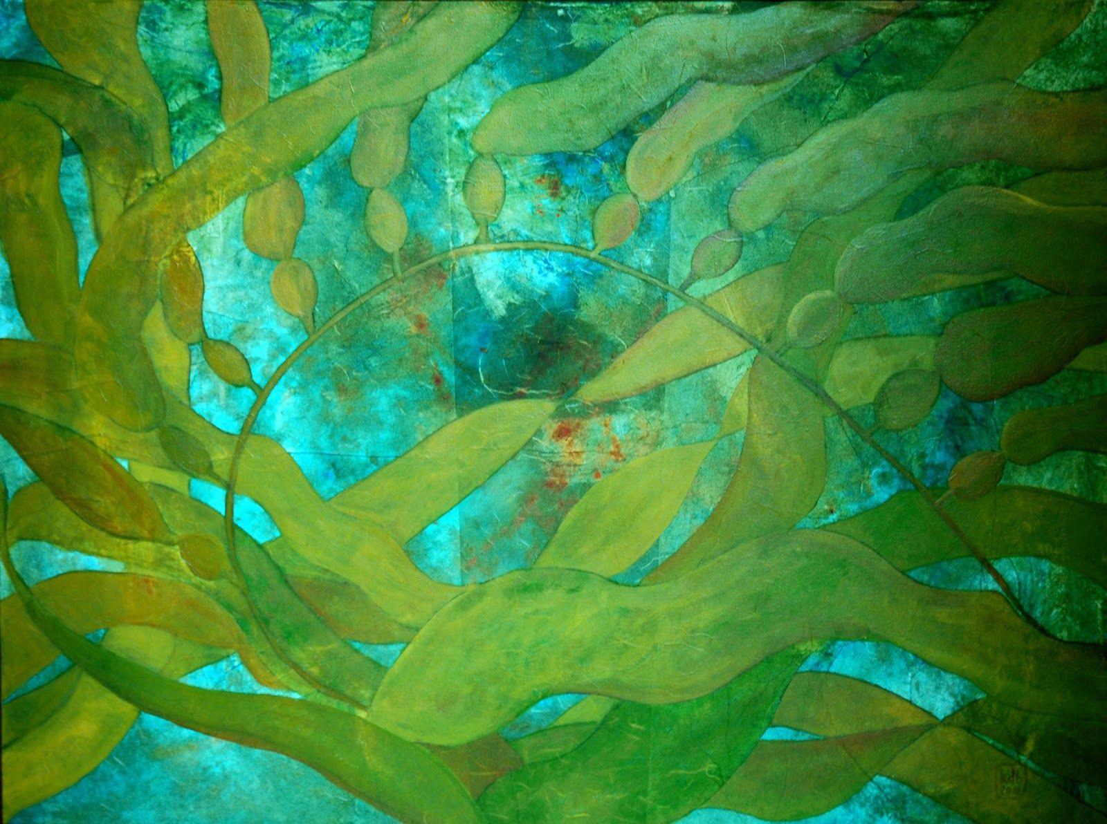 underwater painting seaweed - HD1600×1192
