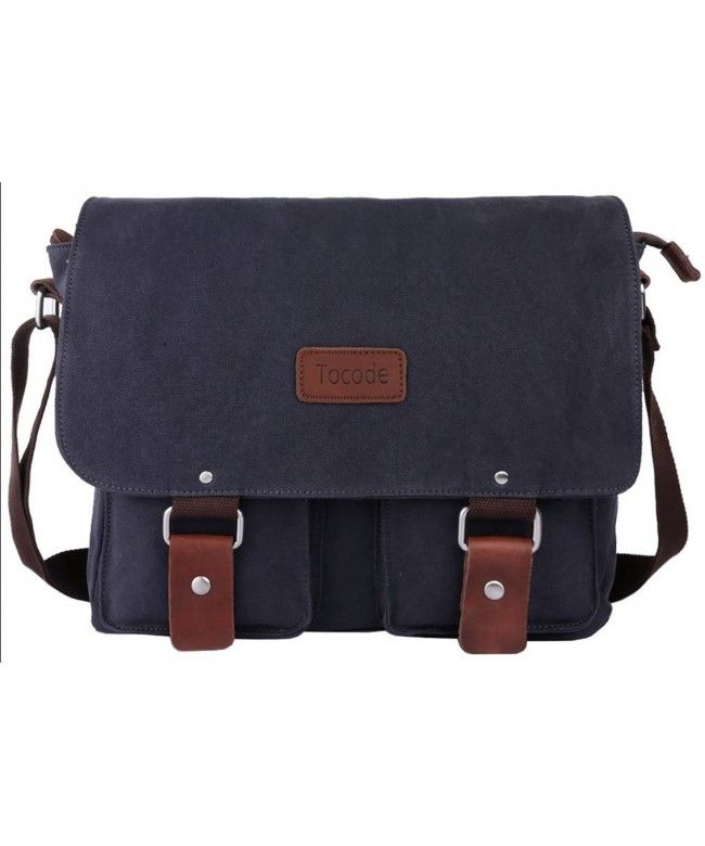 Canvas Messenger Bag 13 Inch Laptop Shoulder Bag for Men and Women Satchel  Bag Dark Gray - Dark Gray - C412MMIE1FJ  Bags  handbags  gifts  Style   Messenger ... 6f8ae9cf644bd
