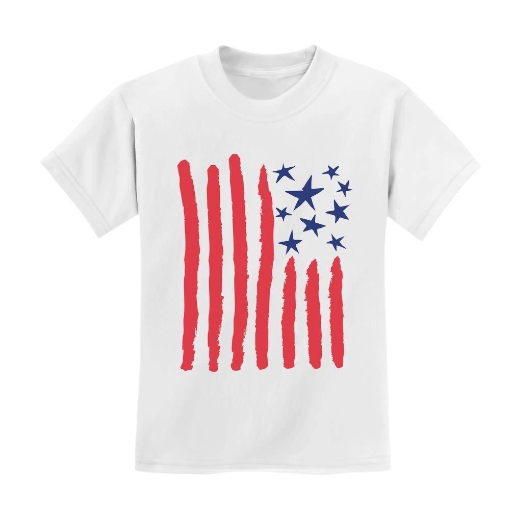 c3a00b54ff1d  11.04 - Children s Drawing American Flag - 4Th Of July Usa Flag Kids T- Shirt Cool  ebay  Fashion