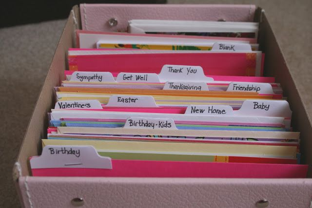 How To Organize Greeting Cards Echoes Of Laughter Greeting Card Organizer Greeting Card Storage Card Storage