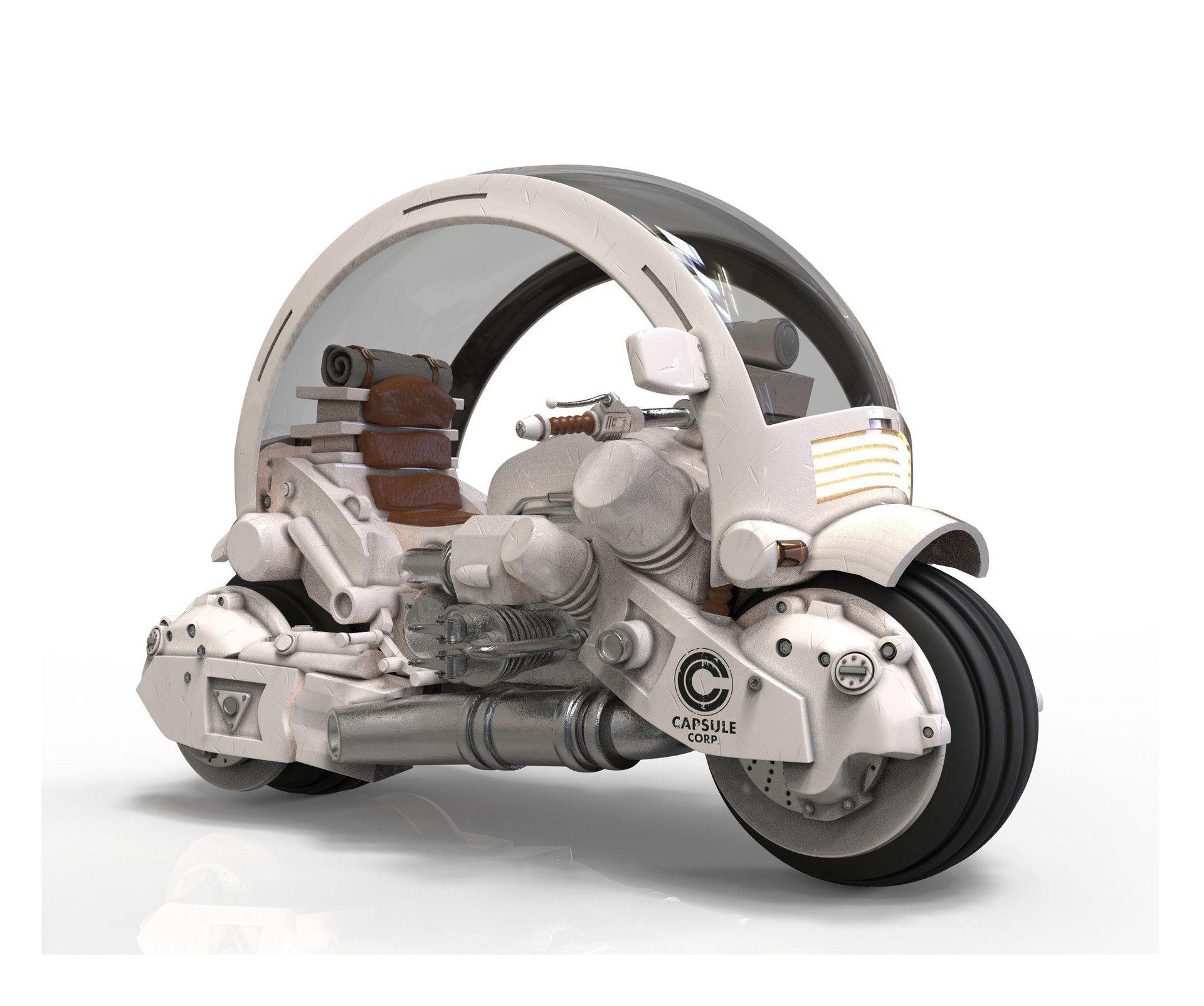 Own Interpretation Of Akira Toriyama S Vehicle From Dragon Ball Concept Car Design Dragon Ball Car Design