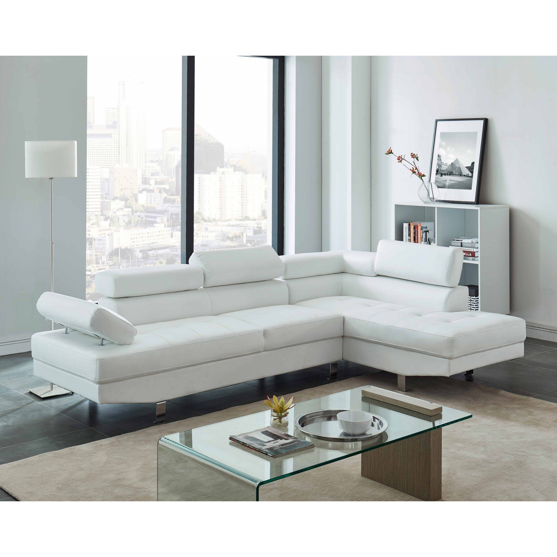 Milton Greens Stars Rocco Modern Sectional  8062 White