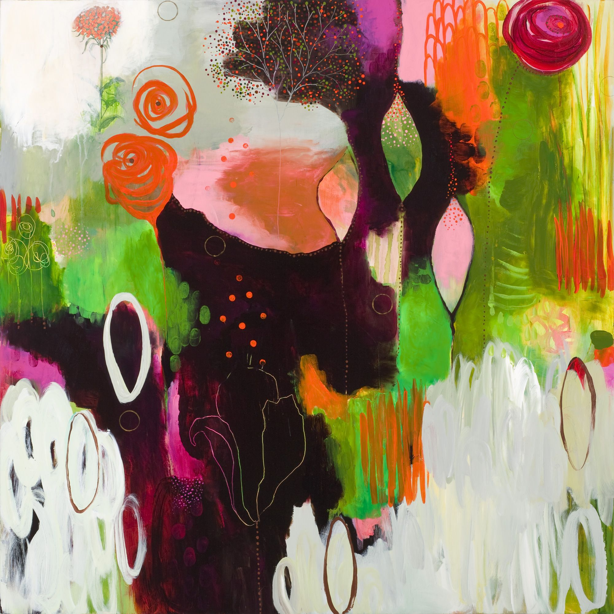 New Brave Intuitive Painting By Flora Bowley Created During Her
