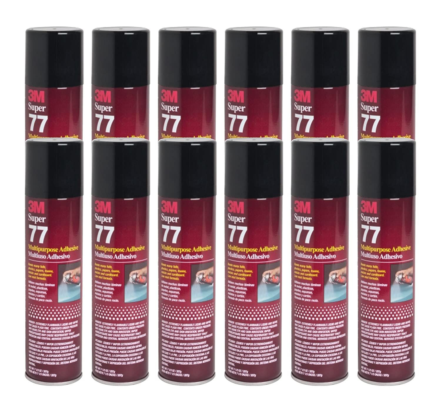 3m Super 77 Spray Glue 7 3 Oz Adhesive For Foil Plastic Paper Foam Metal Pack Of 12 Visit The Image Link More Details Th In 2020 Spray Glue Adhesive Glue Crafts