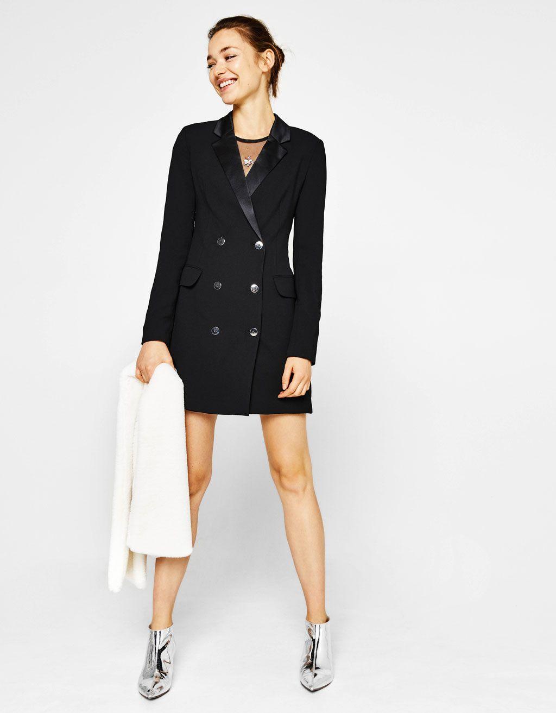 Bershka Italy - Blazer doppiopetto tipo vestito  1c085d5f14f