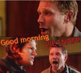 Pin By Erynn Franklin On Too Funny Supernatural Good Morning Vietnam Superwholock