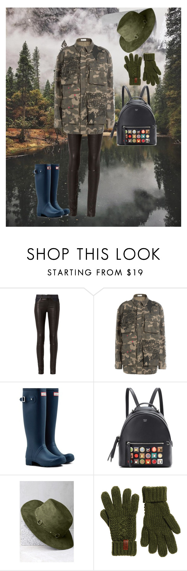 """""""Hunter"""" by ec300 ❤ liked on Polyvore featuring rag & bone, Faith Connexion, Hunter, Fendi, LULUS and Superdry"""