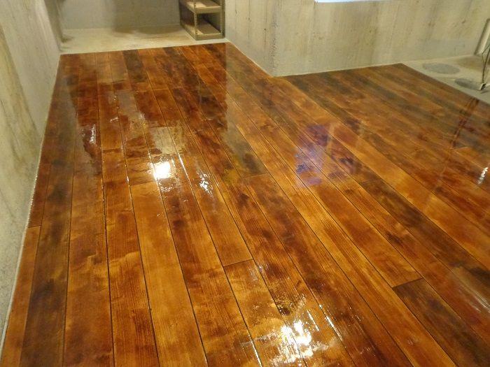 Concrete Wood Bat Flooring Springfield Illinois Stained