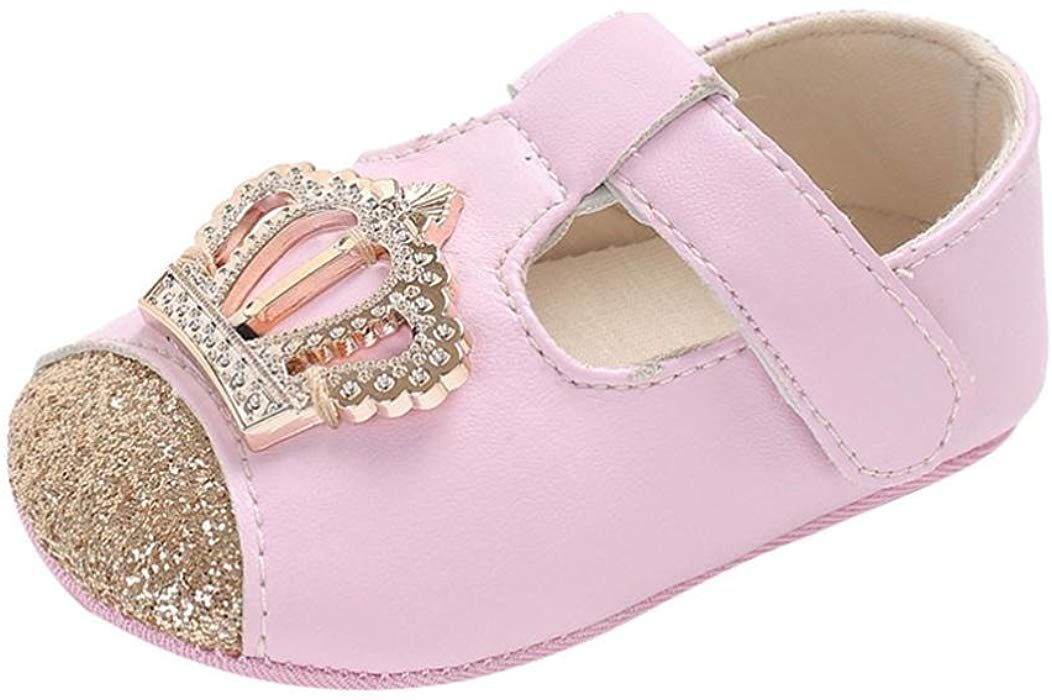 586bb941f6524 Amazon.com: LNGRY Shoes,Toddler Kids Baby Girls Crown Pattern Bling ...