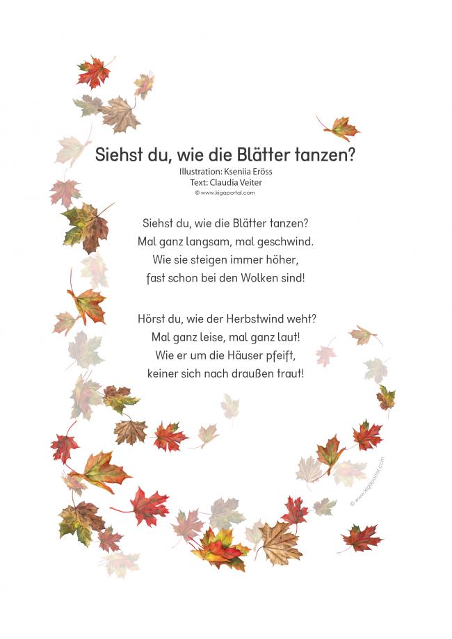 De Kigaportal Kindergarten Herbst Blaetter Blaettertanz Wind