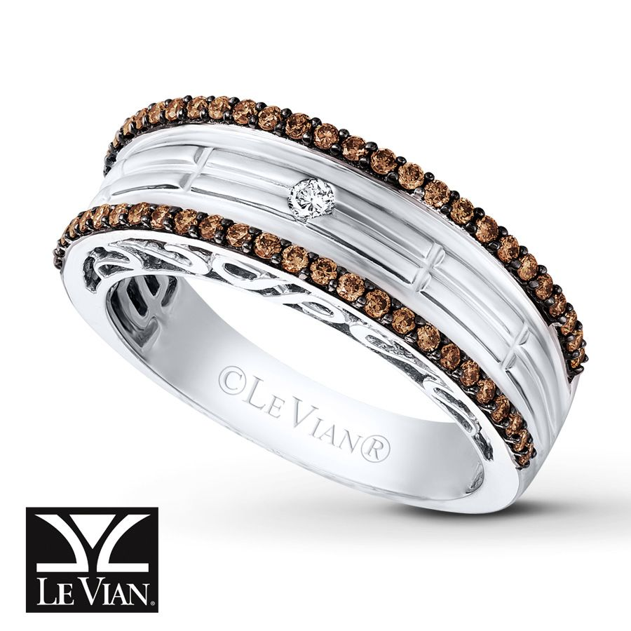 LeVian Chocolate Diamonds® 1/2 ct tw Men's Band in 14K Vanilla ...
